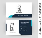 human ankle  business card... | Shutterstock .eps vector #1104183800