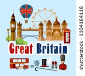 welcome to england. collection... | Shutterstock .eps vector #1104184118