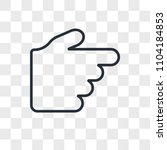 hand pointing to right vector... | Shutterstock .eps vector #1104184853