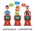 characters answer test question ... | Shutterstock .eps vector #1104185144