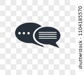 discussion board vector icon... | Shutterstock .eps vector #1104185570