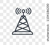 antenna vector icon isolated on ... | Shutterstock .eps vector #1104186200