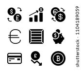 economy vector icon set. global ... | Shutterstock .eps vector #1104189059