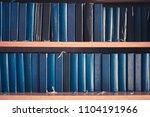 Many Bibles In Book Shelf  ...