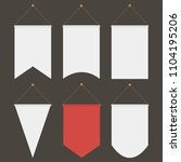 pennant template hanging on... | Shutterstock .eps vector #1104195206