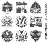 vintage monochrome rock music... | Shutterstock .eps vector #1104201356