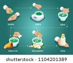 isometric healing herbs... | Shutterstock .eps vector #1104201389