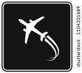 airplane icon vector design | Shutterstock .eps vector #1104201689