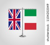 table stand with flags of... | Shutterstock . vector #1104202049