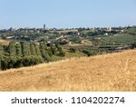 panoramic view of olive groves... | Shutterstock . vector #1104202274