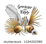 vector gold and silver... | Shutterstock .eps vector #1104202580