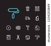 housekeeping icons set....