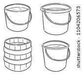 vector set of water buckets | Shutterstock .eps vector #1104206573
