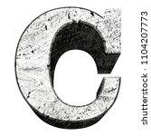 concrete vector font.uppercase... | Shutterstock .eps vector #1104207773