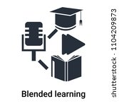 blended learning icon vector... | Shutterstock .eps vector #1104209873