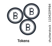 tokens icon vector isolated on... | Shutterstock .eps vector #1104209984