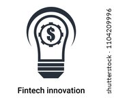 fintech innovation icon vector... | Shutterstock .eps vector #1104209996