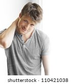 closeup portrait of a happy... | Shutterstock . vector #110421038