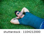 good looking  fit male model... | Shutterstock . vector #1104212000