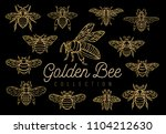 honey bee bumblebees wasps set... | Shutterstock .eps vector #1104212630