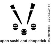japan sushi and chopsticks icon ... | Shutterstock .eps vector #1104213464