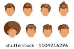 retro hairstyle men. male retro ... | Shutterstock .eps vector #1104216296