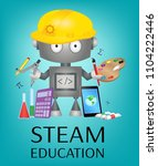 steam education banner with... | Shutterstock .eps vector #1104222446