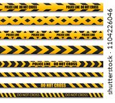 caution lines isolated. warning ... | Shutterstock .eps vector #1104226046