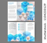 color tri fold business... | Shutterstock .eps vector #1104233129