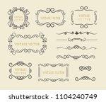 vintage vector set. floral... | Shutterstock .eps vector #1104240749