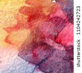 multicolored watercolor painted ... | Shutterstock . vector #1104242723