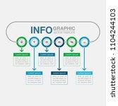 vector infographic template for ... | Shutterstock .eps vector #1104244103