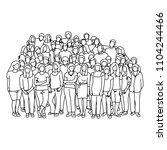 businesspeople team standing on ... | Shutterstock .eps vector #1104244466