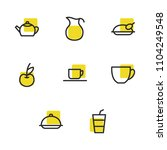 nutrition icons set with...