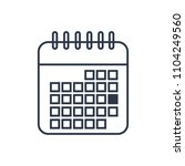 calendar icon. isolated date...