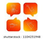 soup ladle  potholder and...   Shutterstock .eps vector #1104251948