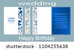 the inscription happy birthday  ... | Shutterstock .eps vector #1104255638