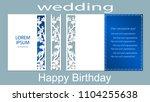 the inscription happy birthday  ... | Shutterstock .eps vector #1104255638