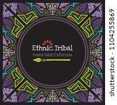 doodle vector pattern ethnic... | Shutterstock .eps vector #1104255869