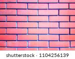 red brick wall with chromatic... | Shutterstock . vector #1104256139