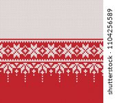 norway festive sweater fairisle ... | Shutterstock .eps vector #1104256589
