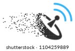 dissolved space antenna dotted... | Shutterstock .eps vector #1104259889