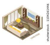 isometric living room 3d... | Shutterstock .eps vector #1104261446