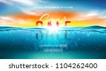 summer sale background template.... | Shutterstock .eps vector #1104262400
