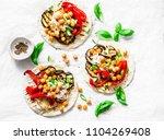 summer grilled garden... | Shutterstock . vector #1104269408