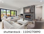 living room interior in new... | Shutterstock . vector #1104270890