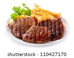 Plate Of Grilled Meat With...