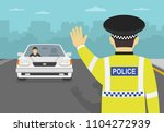 traffic police officer stops... | Shutterstock .eps vector #1104272939