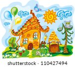 fairy house in bright cute... | Shutterstock .eps vector #110427494