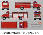 fire truck engine vector mockup ... | Shutterstock .eps vector #1104282473